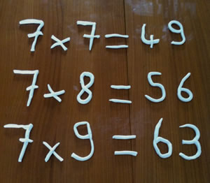 dyscalculie table de multiplications
